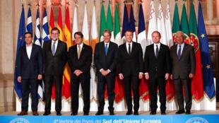 رهبران هفت کشور فرانسه، ایتالیا، اسپانیا، پرتغال، یونان، قبرس و مالت  در رُم بر تدوین یک سیاست واحد اروپائی در زمینۀ پناهندگی تاکید کردند - ١٠ ژانویه ٢٠١٨.
