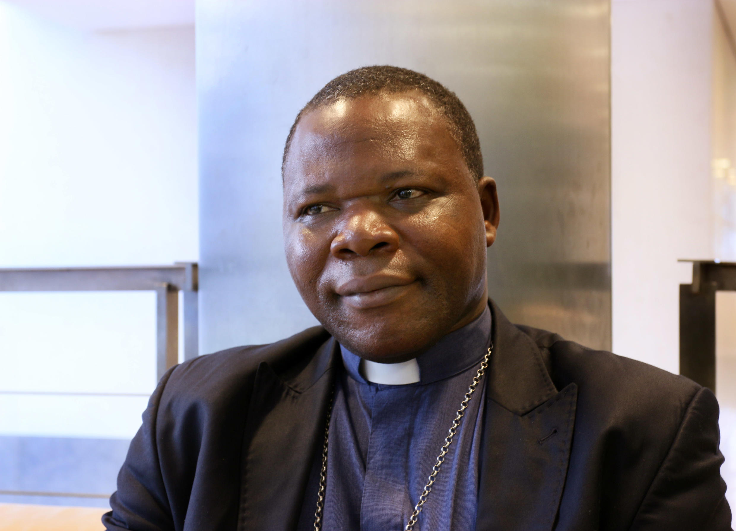Bangui archbishop Dieudonné Nzapalainga, a key player in the release of Claudia Priest.