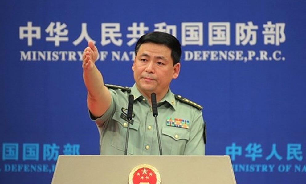 中國國防部發言人任國強大校資料圖片