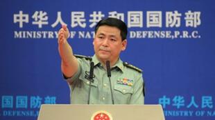 中国国防部发言人任国强大校资料图片