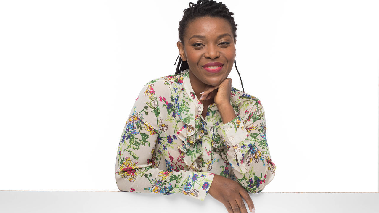 L'artiste comédienne Charlotte Ntamack
