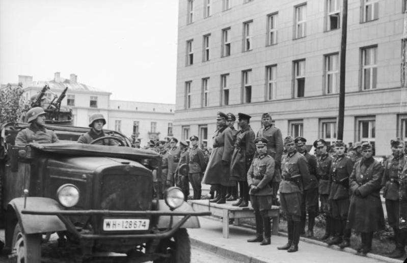 Совместный парад вермахта и РККА в Бресте 22 сентября 1939 года