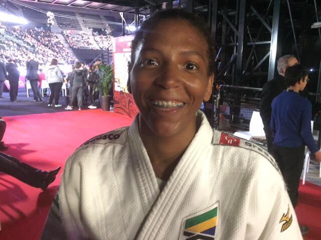 Rafaela Silva, medalha de bronze do Grand Slam de Judô de Paris, em 06/02/16.