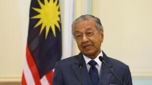 马来西亚首相马哈蒂尔,2019年4月9日新加坡