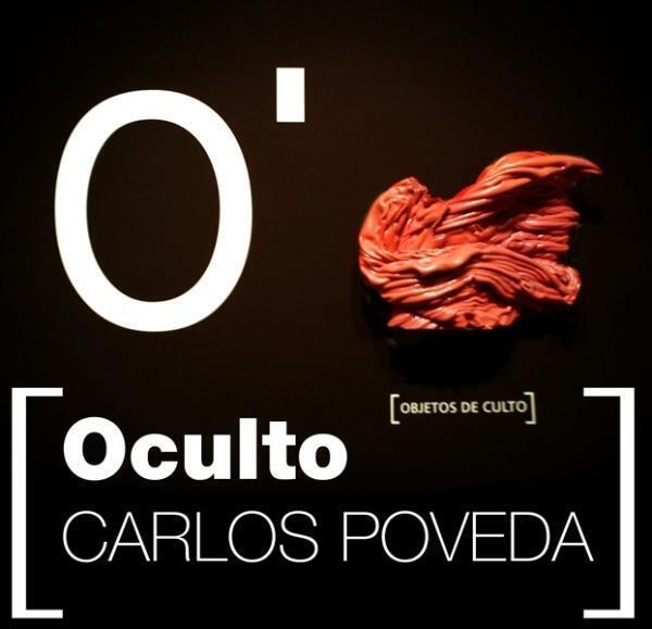 Cartel de una reciente exposición de Carlos Poveda