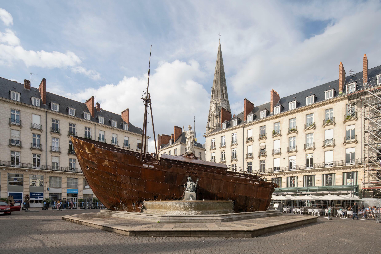 Le Naufrage de Neptune, Ugo Schiavi, Place Royale, le Voyage à Nantes 2021