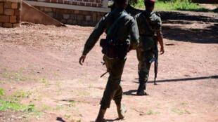 Des soldats de l'ex-Séléka en patrouille, près de Bambari, en mai 2015 (photo d'illustration).
