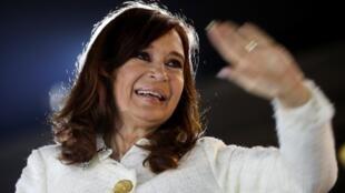 L'ex-présidente argentine Cristina Kirchner, à Buenos Aires, le 9 mai 2019.