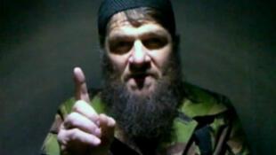 Islamist rebel leader Doku Umarov gestures in this video grab