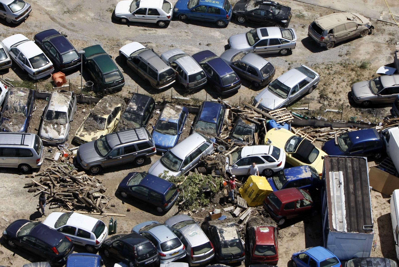 Вид одного из паркингов в г. Драгиньян
