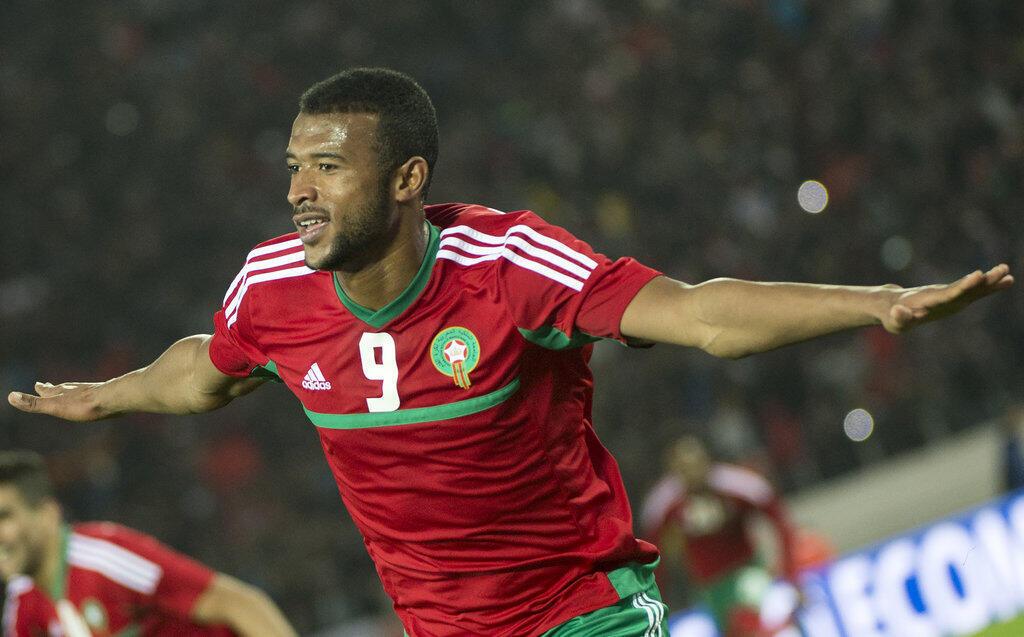 L'attaquant marocain Ayoub El Kaabi .