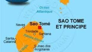 Mapa de S. Tomé e Príncipe