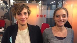 """A ilustradora Johanna Thomé de Souza (à esquerda) e Camille Lebon, co-autora do livro """"Rio Nosso"""""""