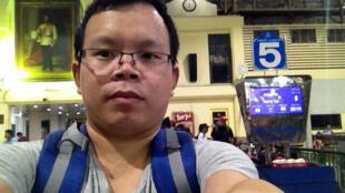 南都網前編輯李新失蹤前自拍相。