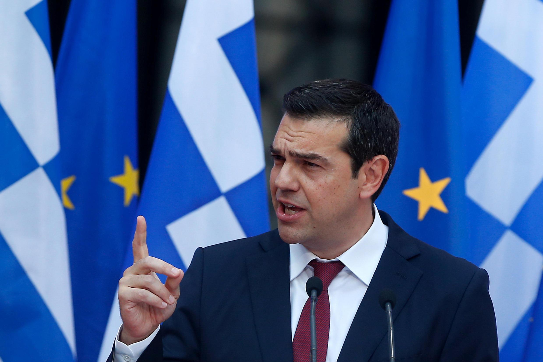 Thủ tướng Hy Lạp, Alexis Tsipras, phát biểu trước Quốc Hội ngày 22/06/2018 thông báo sắp sang trang khủng hoảng tài chính.