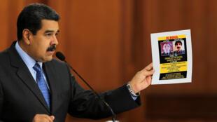 លោក Maduro លើករូបបង្ហាញ មុខជនសង្ស័យប៉ុនប៉ងធ្វើឃាតរូបលោក។