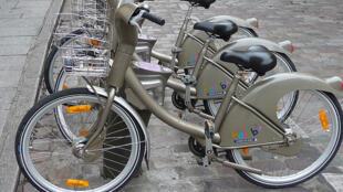 El famoso Vélib' parisino.