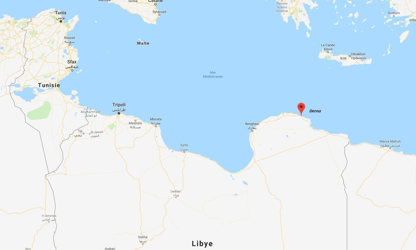 La ville de Derna, dans l'est de la Libye.