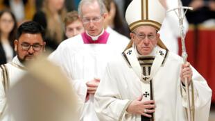 Papa Francisco durante missa celebrada no Dia Mundial dos Pobres, 18/11/2018