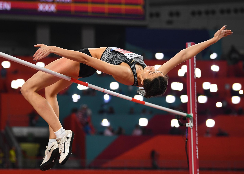Мария Ласицкене на чемпионате мира в Катаре