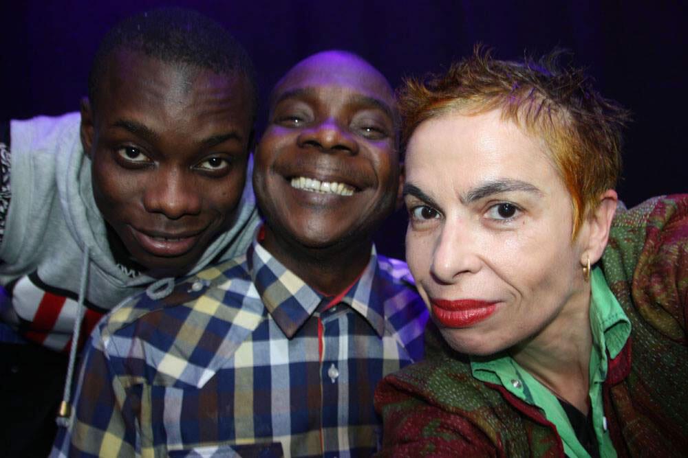 Sidiki Diabaté, Toumani Diabaté et Laurence Aloir.