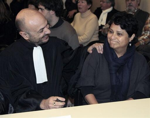 Baby Loup lawyer Richard Malka (L) with director Natalia Baleato