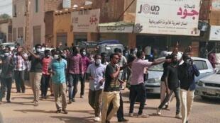 Wasu daga cikin masu zanga-zanga a Sudan