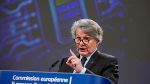 歐盟內部市場委員布雷頓資料圖片