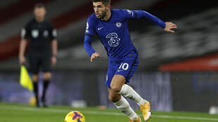 US midfielder Christian Pulisic in action for Chelsea