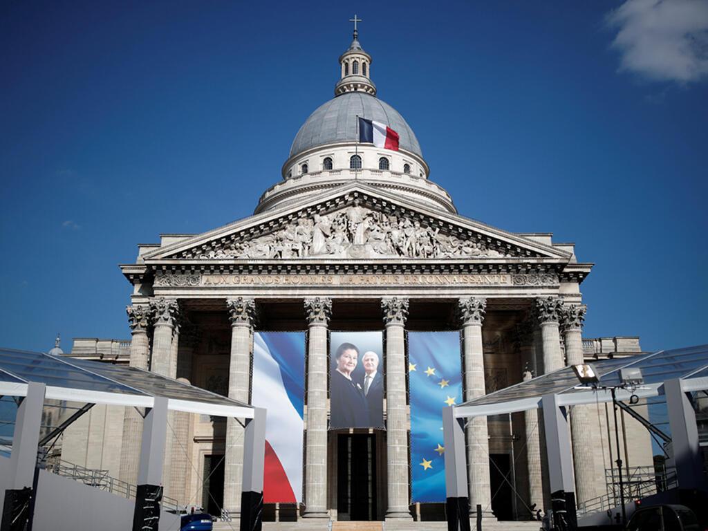 La photo de Simone Veil et son mari Antoine Veil au Panthéon, à Paris. Photo datée du 27 juin 2018.