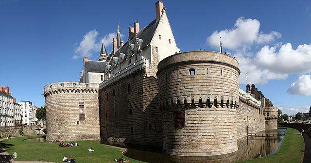 Lâu Đài các Công Tước xứ Bretagne, nơi đặt Viện Bảo Tàng Lịch Sử thành phố Nantes, miền tây nước Pháp.