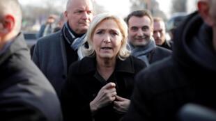 Глава французского Нацфронта Марин Ле Пен