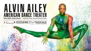 Affiche du spectacle proposé par la troupe Alvin Ailey American Dance Theater à la Seine musicale, en région parisienne, dans le cadre des Etés de la danse.