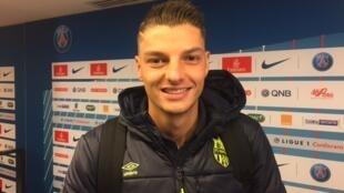 O meia Andrei Girotto joga pelo Nantes desde o ano passado