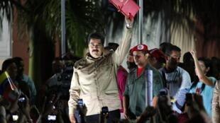 Le président vénézuélien, Nicolas Maduro, après avoir obtenu des pouvoirs spéciaux du Parlement, à Caracas, le 19 novembre 2013.