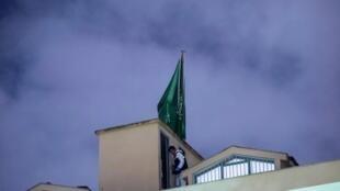 Polisi wa Uturuki wakifanya msako katika ubalozi mdogo wa Saudi Arabia Istanbul, Uturuki, tarehe 15 Oktoba.