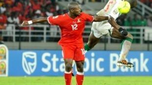 Thierry Fidjeu Tazemeta a été l'un des hommes-clefs du match pour la Guinée équatoriale, le 25 janvier 2012.
