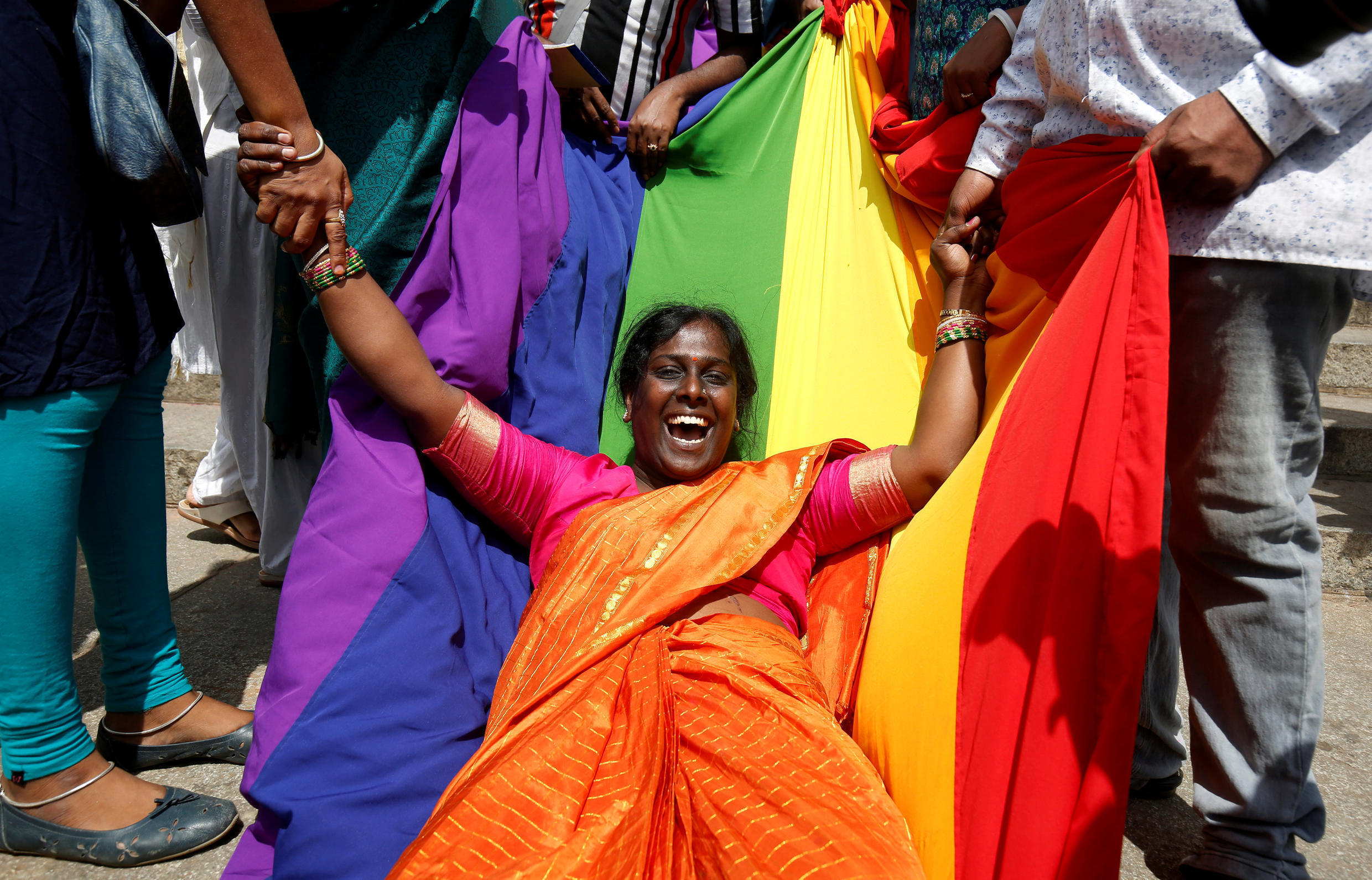 An activist of lesbian, gay, bisexual and transgender (LGBT) community in India 2018