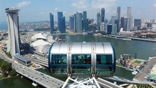 Vista aérea de Cingapura.