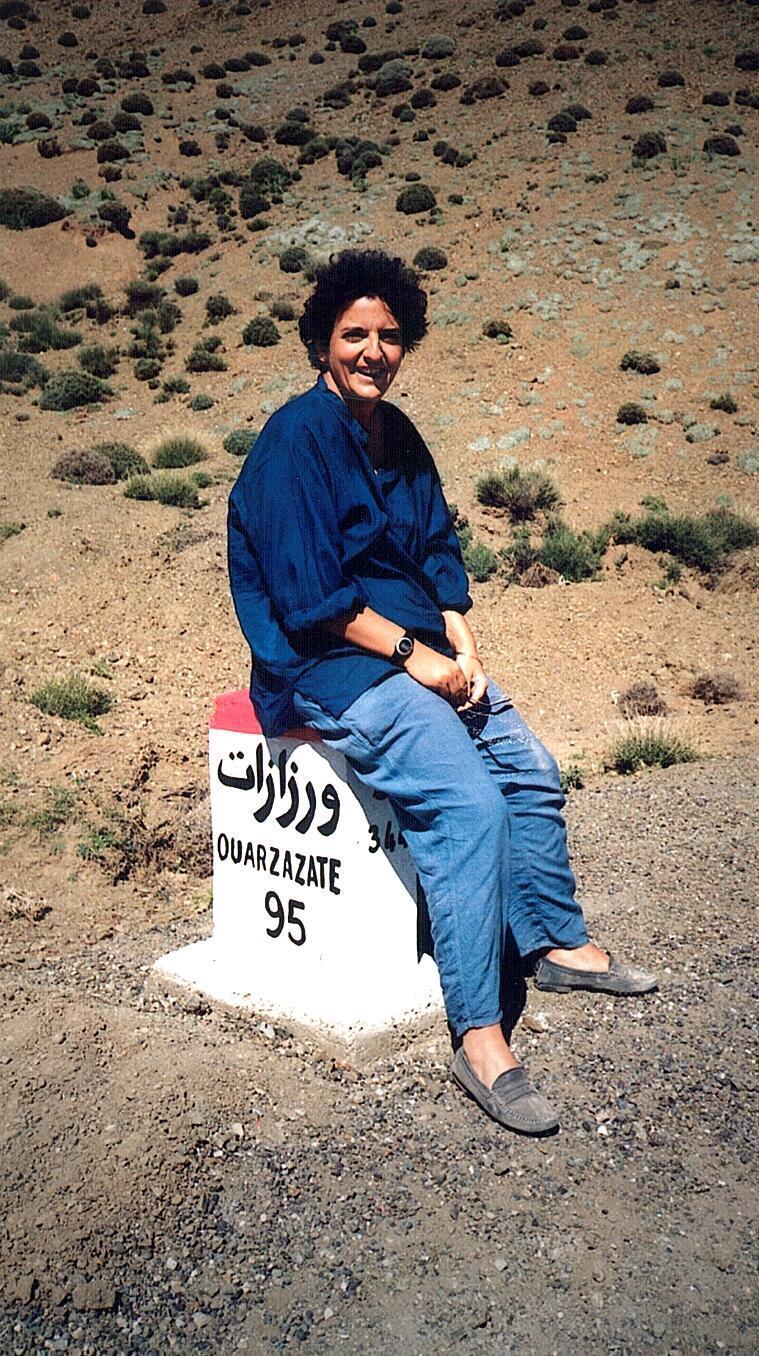 Johanne Sutton lors d'un voyage au Maroc