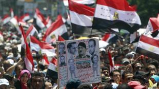 Manifestation à Alexandrie, le 15 juillet 2011