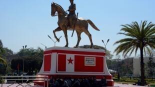 La statue en bronze du général Aung San, architecte de l'indépendance birmane, a été inaugurée début février à Loikaw, capitale de l'État de Kayah en Birmanie.
