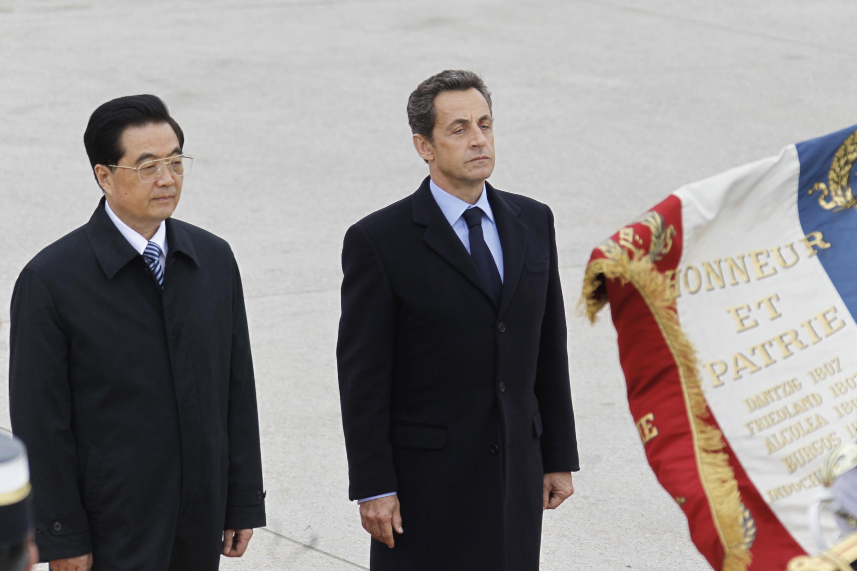 胡锦涛对法国进行国事访问05112010
