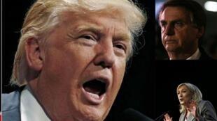 Vitória de Donald Trump reforça movimentos populistas e extremistas de direita, como os protagonizados por Marine Le Pen e Jair Bolsonaro.