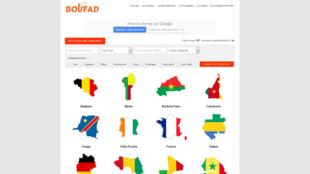 Le site boufad.com devrait à terme avoir des représentants dans chacun des 15 pays de son réseau, dix pays africains et cinq pays européens.