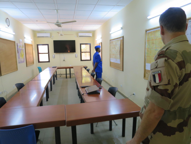 Centrale d'opération du PC de Niamey.