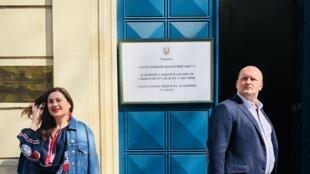 Перед избирательным участком в Украинском культурном центре в Париже. 31 марта 2019 г.