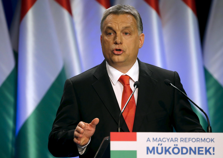 Thủ tướng Hungary Viktor Orban tại Budapest ngày 28/02/2016. Dưới thời của chính phủ Orban, Hungary liên tục ra các đạo luật gây bất bình dư luận.