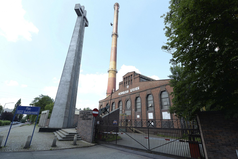 Mine de charbon dans la ville de Katowice, en Pologne.Toute l'industrie polonaise du charbon est en difficulté à cause du coronavirus.