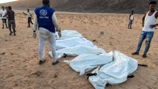 Plusieurs personnes sont mortes après avoir été jeté d'une embarcation au large de Djibouti, le 4 octobre 2020.